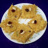 Photo of Vermicelli Burfi,Vermicelli Burfi Image