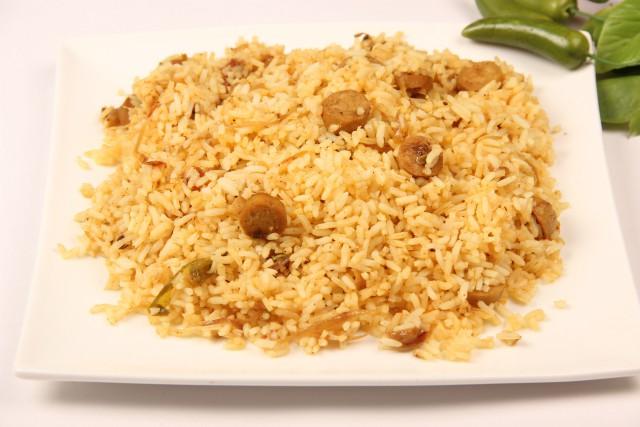 Photo of Chicken sausage Biriyani,Chicken sausage Biriyani Image